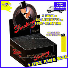 Cartine SMOKING NERE DE LUXE Lunghe King Size ks 1 Box - 50 Libretti