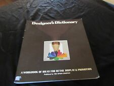 Designer's Dictionary-A Workbook of Ideas for Retail Display-Vintage 1974-Upson