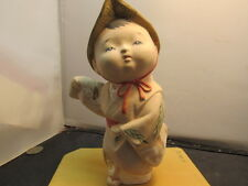 Japanese Ceramic Pottery Clay Hakata Doll Figure BOY