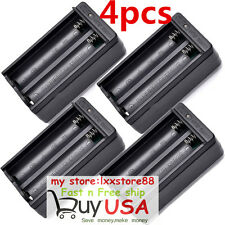4pcs Dual Slot Wall Charger US Plug For 18650 3.7V Rechargeable Li-ion Batt