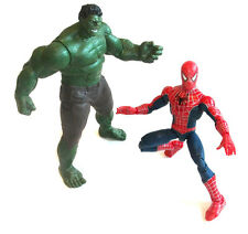 "LEGGENDE MARVEL COMICS HULK VS Spiderman dettagliato di 10"" Figure Set LOTTO, Vendicatori"