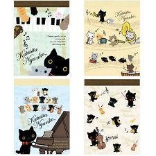 San-X Concert of Cat with socks Nyanko Mini Memo Pad SET of 4 (MW06401) 20C