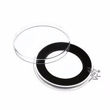 Air-Tite Brand Y45mm Black Ring Coin Capsule Holders Qty: 3