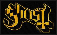 Ghost - Yellow Logo Infestissumam B.C. Patch Aufnäher neu Hard Rock Metal Doom