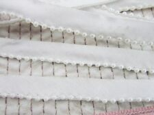 4 yards Pearl Bead Cotton Band 11mm Lace Trim/dress/sewing/notion/Sew T170-White