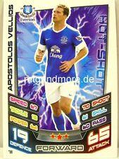 Match Attax 2012/13 Premier League - #071 Apostolos Vellios - Everton