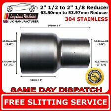 "2.5"" to 2.125"" Stainless Steel Flared Exhaust Reducer Connector Pipe Tube"
