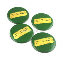 4 x Sticker BBS Green  Gold  Style Wheel Center Hub Caps Badge 60MM High Quality