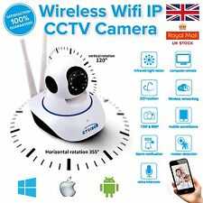720P HD Wireless Wifi telecamera di sicurezza CCTV WEBCAM Baby / Pet PAN TILT ZOOM UK