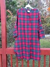 Realwear by Lane Bryant Nostalgic Flannel Night Shirt 18 / 20 Red Checked