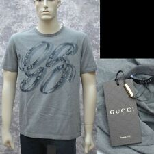 GUCCI New sz L Authentic Designer Mens Cotton GG Belts T-Shirt T Shirt