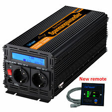Pure Sine Wave 2500W 5000W Power inverter 12V 240V Multifunction LCD Display