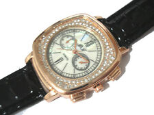 Bling Bling Black Leather Band Ladies Watch Item 4382