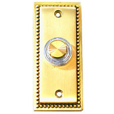 Friedland Illunminated Wired Solid Brass Door Bell Chime Push Button Press 15776