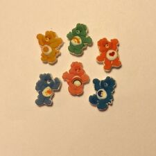 6 CARE BEARS FLOATING LOCKET CHARMS FITS ORIGAMI OWL CHEER LUCK +++