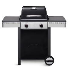 barbecue gas grill Nevada 2 piastra ghisa bruciatori coperchio 116x58x108 fuoco