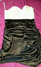 RARE LONDON BLACK AND WHITE BANDEAU DRESS SIZE SMALL