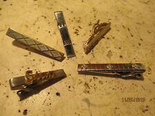 Vintage Swank Tie Clip Lot Of (5) Tie Clips Rare and Nice