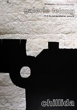 EDUARDO CHILLIDA 1990 LITHOGRAPH ABSTRACT POSTER LIMITED EDITION BLACK GREY