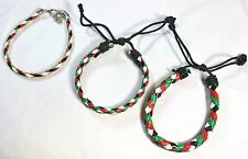 Lot of 3:Palestinian Flag Braided Bracelet Palestine Flag Colors Wristband # ABC