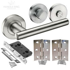 Brushed Stainless Steel Internal Door Handle Pack - Bathroom Door Handles