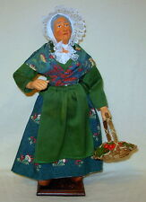 "Santons Woman with Apple Basket by Renee Gateau - 13""  France"