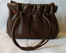 JANE SHILTON vintage Purse Handbag Clutch LEATHER made in England brown