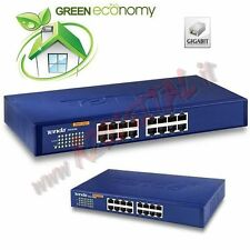 HUB SWITCH TEG1016D TENDA 16 PORTE SERVER 100/1000 ETHERNET SDOPPIATORE GIGA LAN