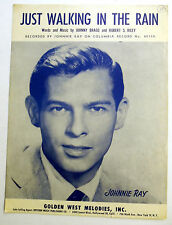 JOHNNIE RAY Sheet Music JUST WALKING IN THE RAIN Western Publ. 50's POP Rock