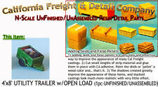 UTILITY TRAILER w/Open Load (1kit) N/1:160-Scale CAL Freight & Details Co nnbPR8