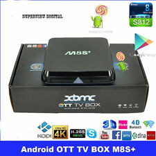 M8S+ PLUS Android TV Box S812 Quad Core 2GB Ram 8GB HD 5GHZ WIFI Kodi 16.1