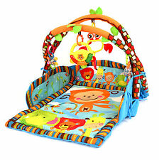 BABY Playmat 3 IN 1 DOUBLE Arch PALESTRA PLAY MAT & lettino con musica e luci