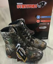 "Herman Survivors Mens Sz 12W Boots 8"" Hunting Waterproof Insulated Camo Wide NIB"