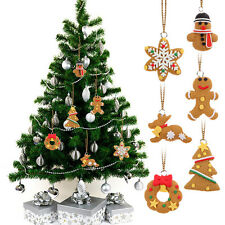 Popular 6Pcs Tree Hanging Accessories Polymer Clay Pendants Christmas Ornament