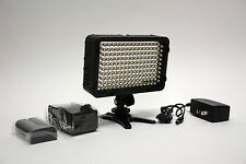 Pro 4K 1 OM LED video light w AC adapter F570 for Olympus PEN-F OM-D E-M5 E-M1 D