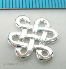 1x BRIGHT STERLING SILVER CELTIC FORTUNE CHANDELIER CONNECTOR SPACER BEAD #072