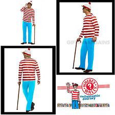 Where's Wally Where's Waldo Adult Costume Men's Book Week Costume S:Std/Medium