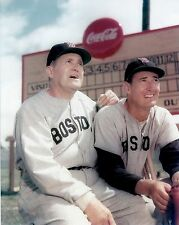 HALL OF FAME LEGENDS TED WILLIAMS and JOE MCCARTHY CLASSIC 8x10 RED SOX #1