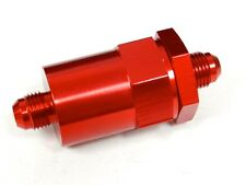 UNIVERSAL CNC ALUMINUM WASHABLE RACING INLINE FUEL FILTER -6 AN6 6AN RED B