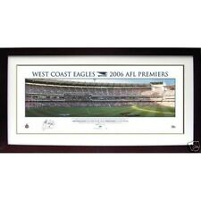 WEST COAST EAGLES CHRIS JUDD SIGNED FRAMED 2006 PREMIERSHIP PANORAMIC PRINT