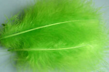 12 x plumes  MARABOU VERT FLUO 12 a 17 cm montage mouche fly tying feathers