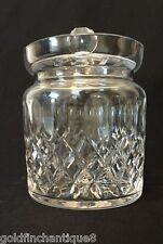Waterford Colleen Crystal Biscuit Barrel Short Stem Cut Cookie or Candy Jar