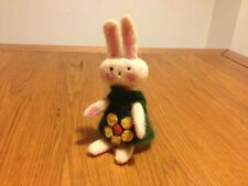 Handmade unique Needle Felted Sweet Little Rabbit can be undress. Easter - OOAK