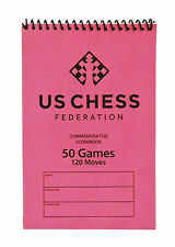 US Chess Federation Softcover Chess Scorebook - 50 Games – Pink Score Book