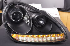 Porsche Cayenne 955  BLACK LED DRL Projector Headlights  NEW