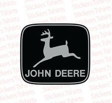 John Deere Grey Logo Tractor JD Vinyl Decal Window Bumper Sticker Aftermarket