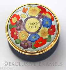 Staffordshire Enamels Thank You Enamel Box