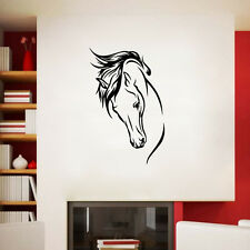 Vinyl Head Of Horse Wall Murals Living Room Decal Removable Wall Decal