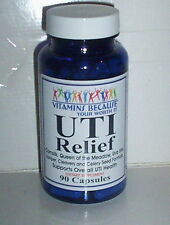 UTI RELIEF -SUPPORT FEMALE MALE URINARY TRACT INFECTION SUPPLEMENT - 90 CAPSULES
