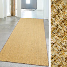 Carpet High Quality Sisal Runner up Natural fibers with colored Black 39 3/8x94